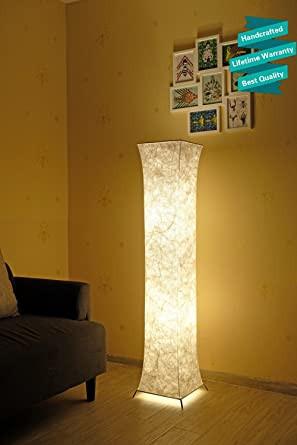 Floor Lamp for Bedroom 52 Led Floor Lamp & 2 Light Bulbs,contemporary Roman Columns Standing Floor Lamps for Living Room Bedroom Warm atmosphere Tyvek Dupont 10 X 10 X 52