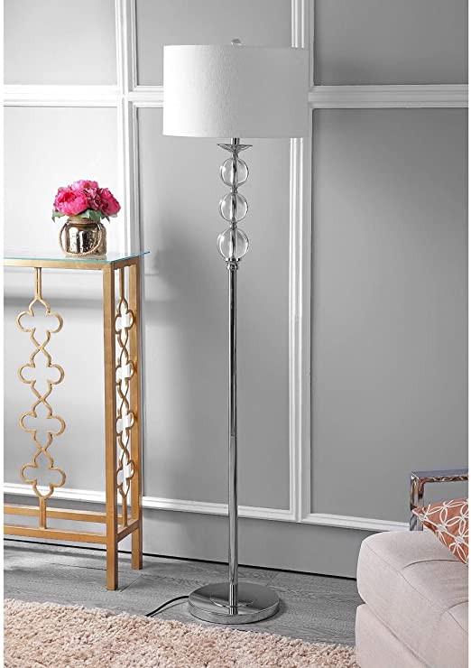 "Floor Lamp for Bedroom Amazon Modern Globe Floor Lamp 62"" Crystal Glass"