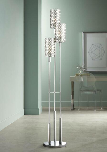 Floor Lamp for Bedroom Modern Floor Lamp 3 Light Chrome Glitz Crystal for Living Room Bedroom Uplight