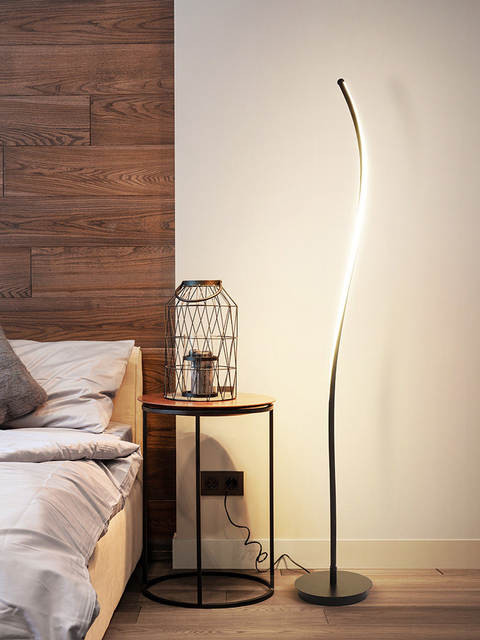 Floor Lamp for Bedroom Us $706 05 Off Floor Lamp Simple Modern nordic Creative Home Bedroom Living Room Bedside Lamp Personality Led Curved Stand Lamp Floor Lamps