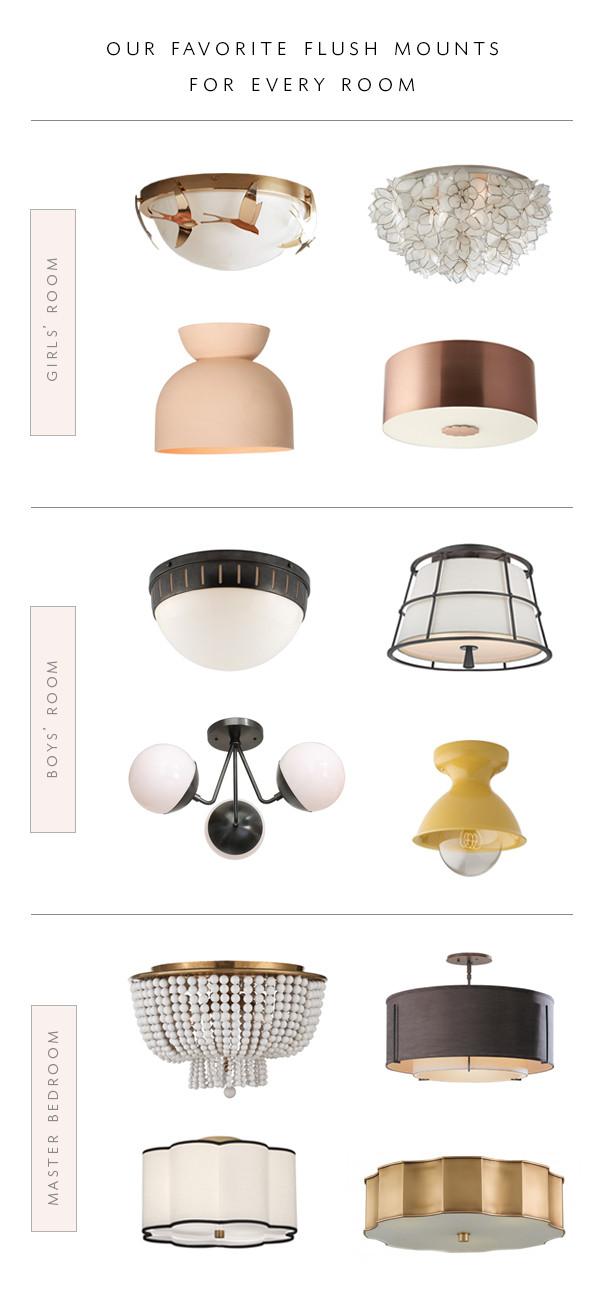 Flush Mount Bedroom Ceiling Light Roundup Our Favorite Flush Mount Lighting for Every Room