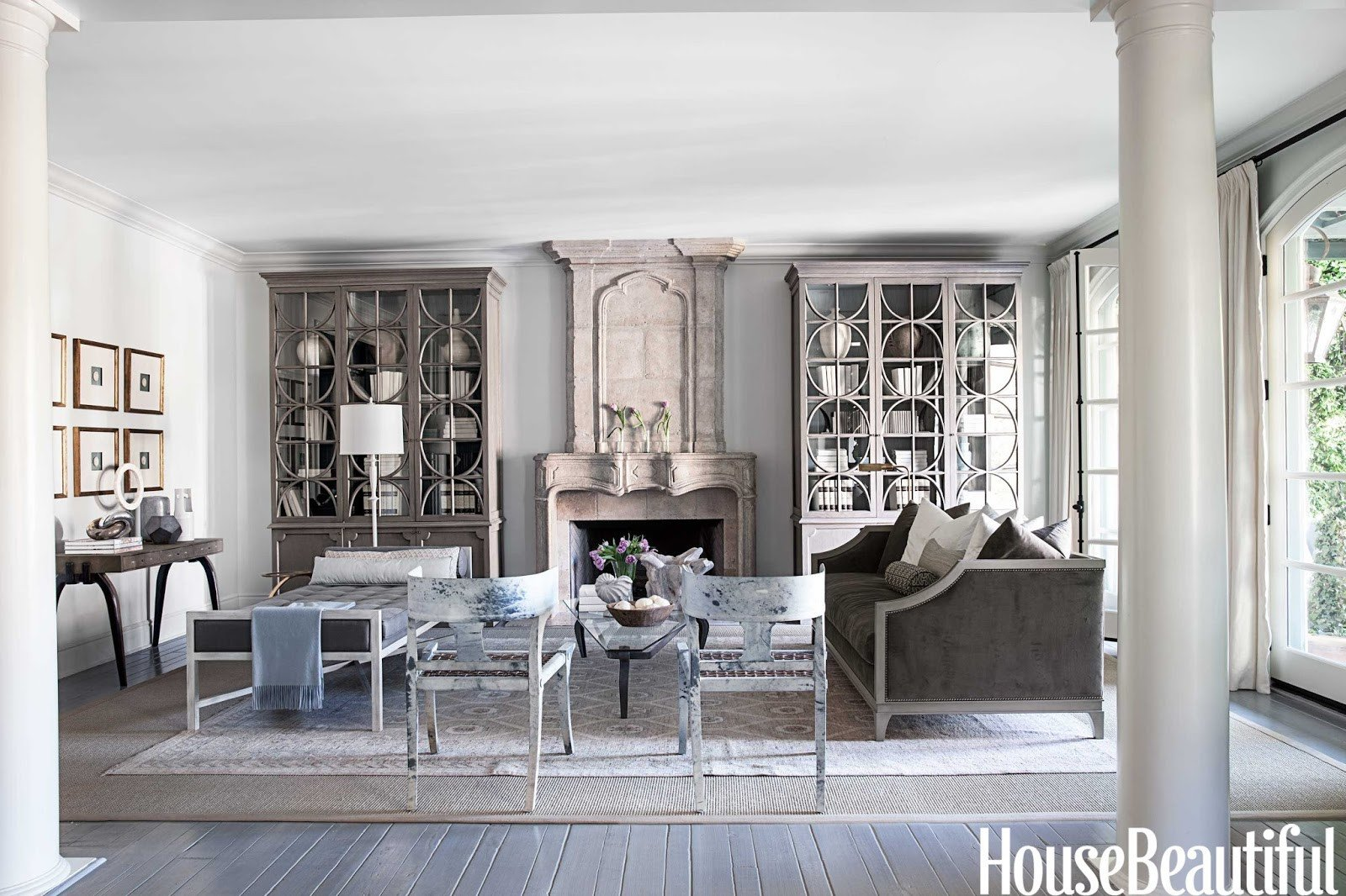 French Contemporary Living Room Designer Mary Mcdonald Cleanses the Color Palette House
