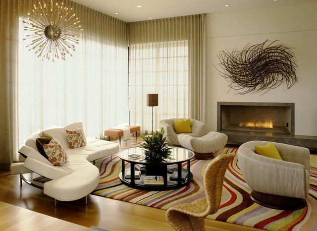 French Contemporary Living Room French Haven Contemporary Living Room orange County