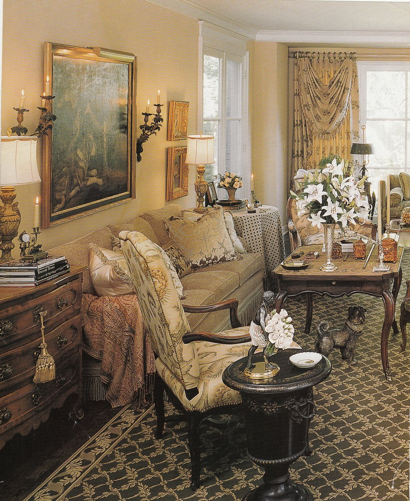 French Country Decor Living Room Hydrangea Hill Cottage French Country Decorating