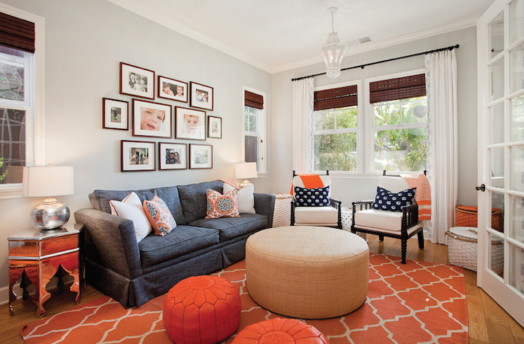 Fun Living Room Decorating Ideas Fun Living Family Room with Pale Gray Walls Accented with