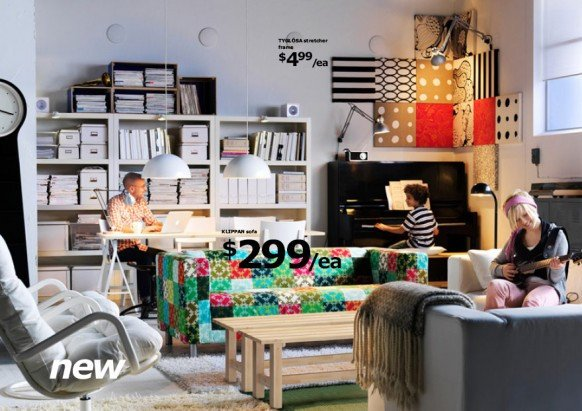 Fun Living Room Decorating Ideas Ikea 2010 Catalog