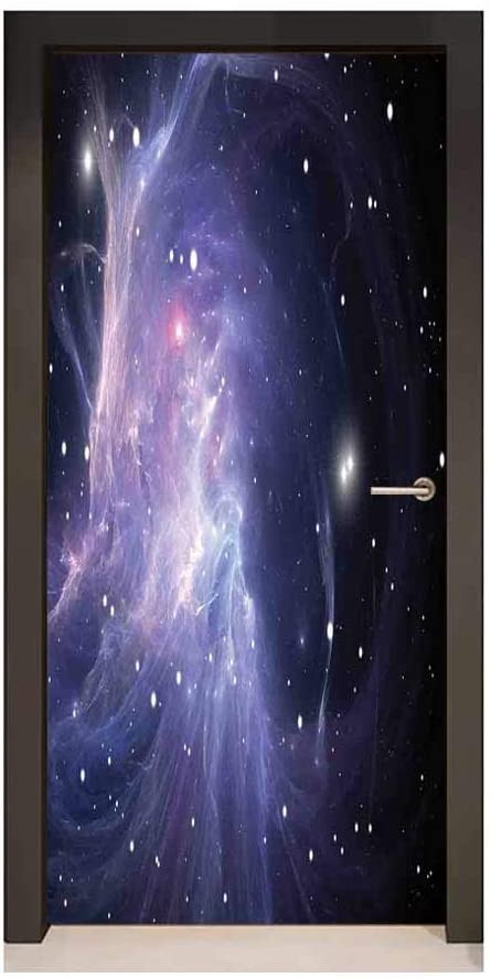 Galaxy Wallpaper for Bedroom Amazon Outer Space 3d Door Decal Space Nebula In Galaxy