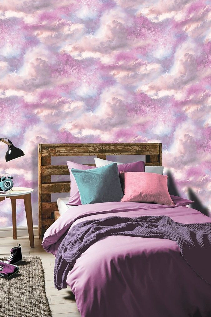 Galaxy Wallpaper for Bedroom Arthouse Diamond Galaxy Wallpaper Pink In 2020