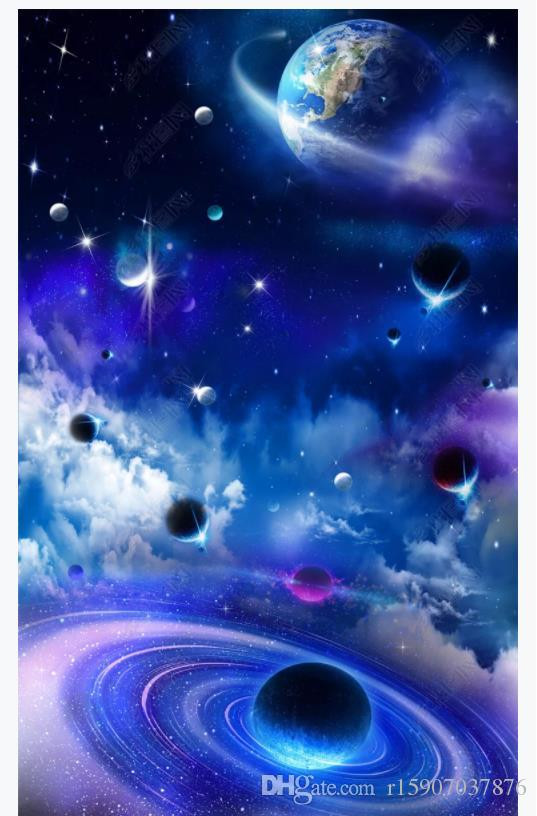 Galaxy Wallpaper for Bedroom Custom 3d Ceiling Zenith Interior Decorative Mural Hd Galaxy Starry Sky 3d Hotel Bedroom Zenith Ceiling Wallpaper for Walls 3d Wide Wallpapers