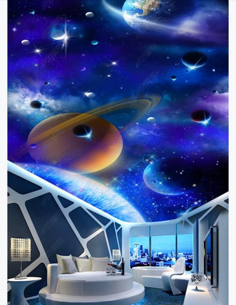 Galaxy Wallpaper for Bedroom Custom Ceiling Zenith Mural Wallpaper Starry Sky Hd Galaxy 3d Living Room Bedroom Zenith Ceiling Mural Wall Paper for Walls 3d Music