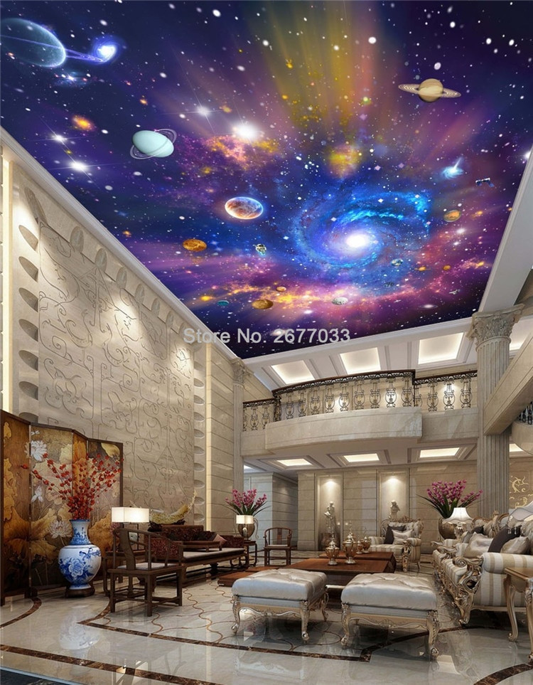 Galaxy Wallpaper for Bedroom Us $8 55 Off Custom Wallpaper 3d Star Universe Galaxy Murals Wall Cloth Children S Bedroom Living Room Waterproof Ceiling Wallpaper 3