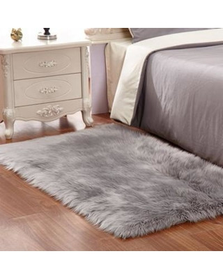 Girls Bedroom area Rugs Fabricmcc Fabricmcc Faux Sheepskin area Rug Silky Shag Rug Fluffy Carpet Rugs Floor area Rugs Decorative for Living Room Girls Bedrooms Grey From