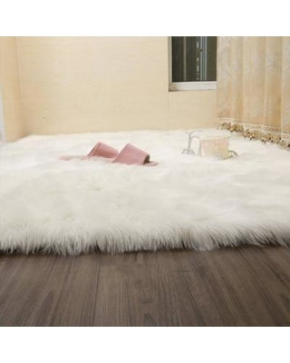 Girls Bedroom area Rugs Fabricmcc Fabricmcc Faux Sheepskin area Rug Silky Shag Rug White Fluffy Carpet Rugs Floor area Rugs Decorative for Living Room Girls Bedrooms White
