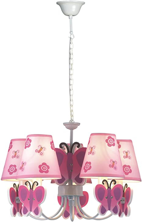Girls Bedroom Ceiling Light Ceiling Lighting Fixtures for Girls Room Baby Girl Nursing Room Pink butterfly Pendant Lights
