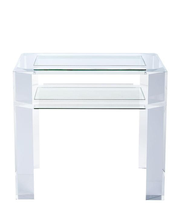 Glass Side Tables for Bedroom Landis Acrylic Glass top Side Table