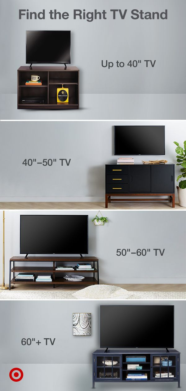 Good Size Tv for Bedroom Choose the Right Stand for Your Tv Shop by Size and Create