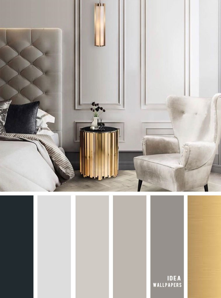 Gray and Gold Bedroom 11 Gorgeous Bedroom In Grey Hues with Gold Accents Idea