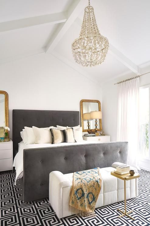 Gray and Gold Bedroom 23 Gorgeous Ideas to Design A Glam Bedroom with Images