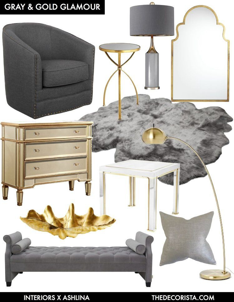 Gray and Gold Bedroom Color Crushing Decorating with Gray and Gold for Glamour