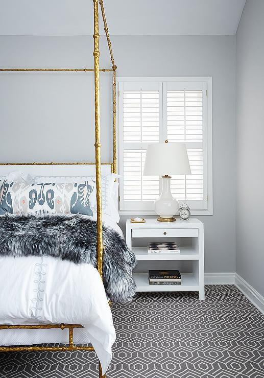 Gray and Gold Bedroom Gold and Gray Bedrooms Transitional Bedroom