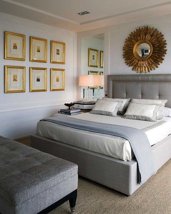 Gray and Gold Bedroom Gray and Gold Vie for attention In This Glamorous Bedroom A