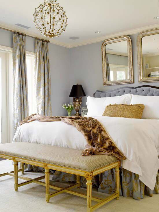 Gray and Gold Bedroom Gray Color Schemes
