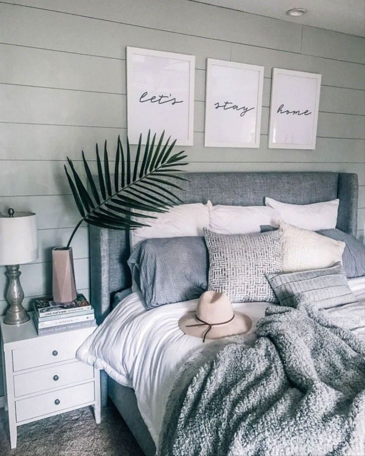 Gray and White Bedroom Decor Diy Home Decor Chambre Ideas 340