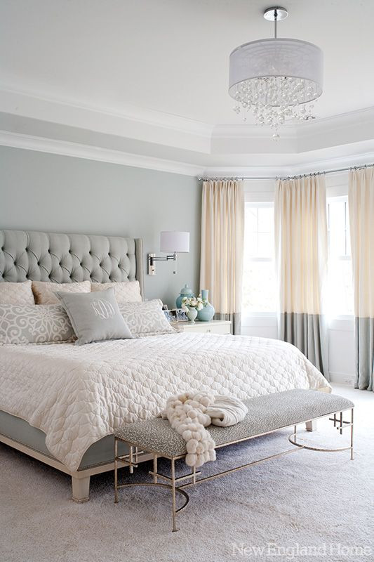 Gray and White Bedroom Greenwich Glamour