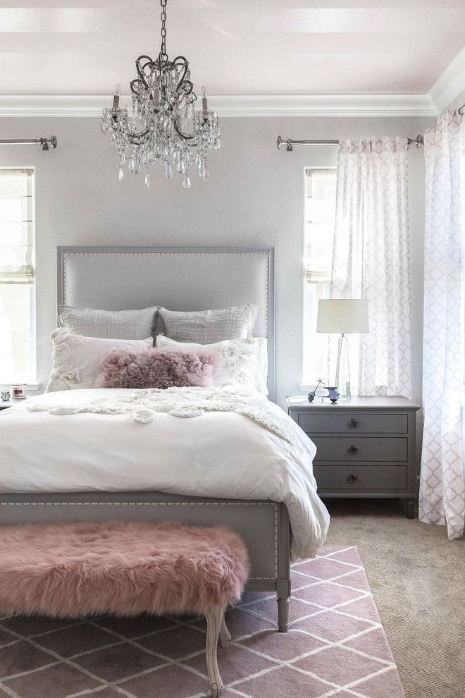 Gray and White Bedroom Stunning Gray White & Pink Color Palette
