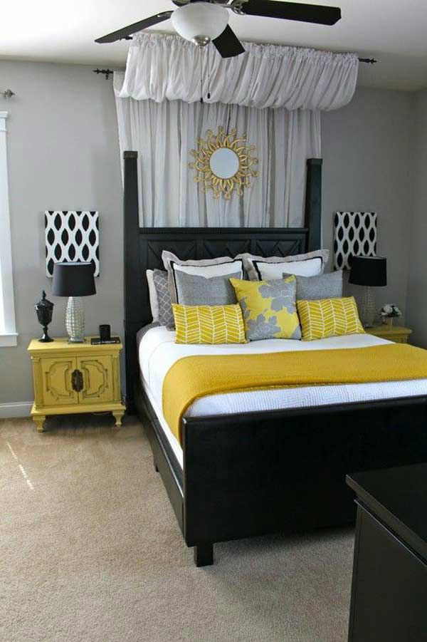 Gray and Yellow Bedroom Decor 22 Beautiful Bedroom Color Schemes