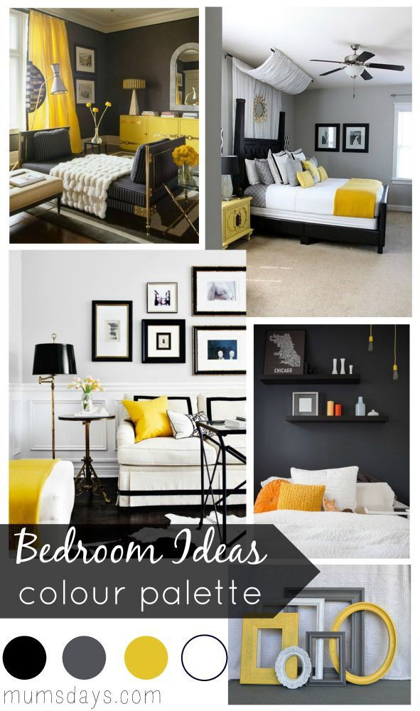 Gray and Yellow Bedroom Decor Black and Yellow Bedroom Ideas with Colour Palette