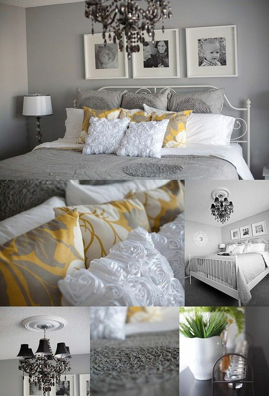 Gray and Yellow Bedroom Decor Gray and Yellow Bedroom My House My Homemy House My Home