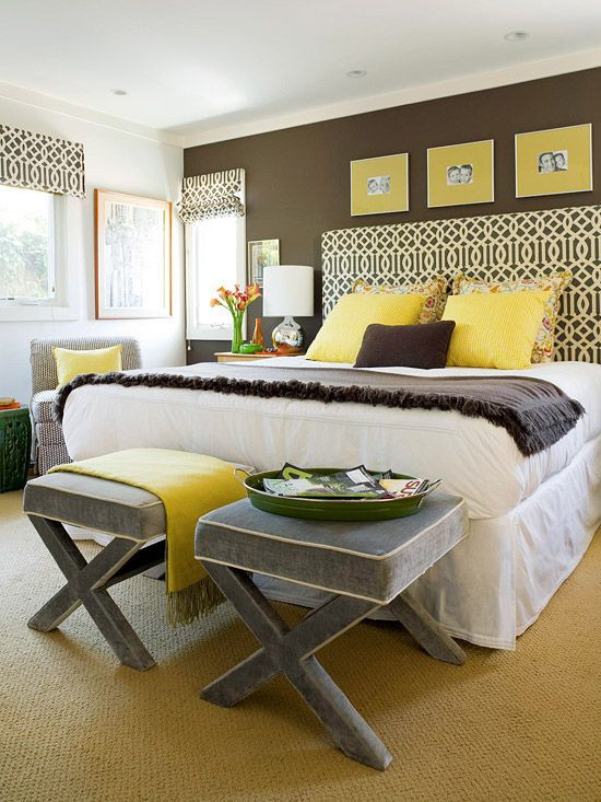 Gray and Yellow Bedroom Decor Suzie Bhg Fun Brown Yellow & Gray Bedroom Design with