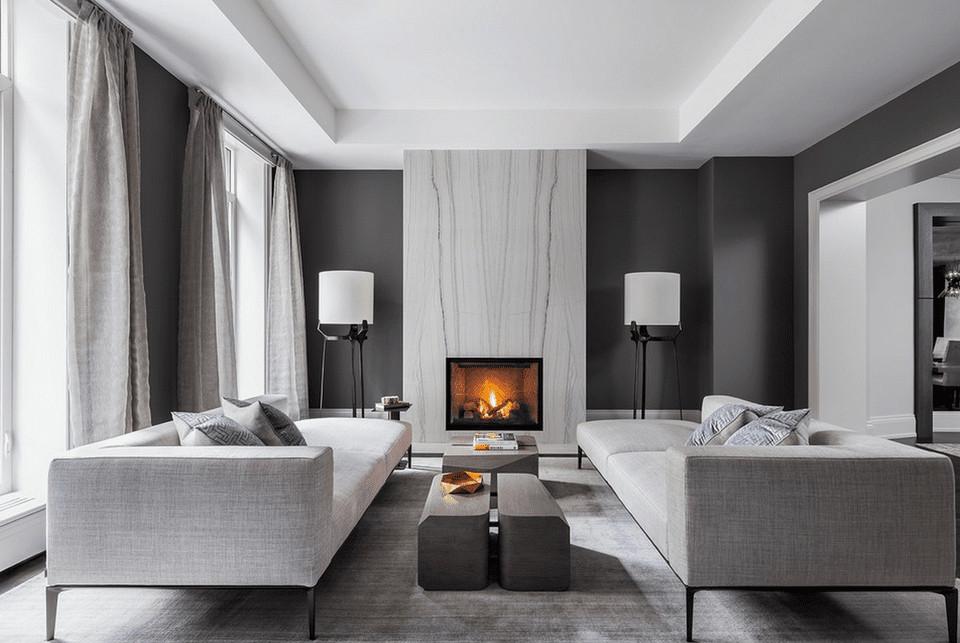 Gray Contemporary Living Room 21 Modern Living Room Design Ideas