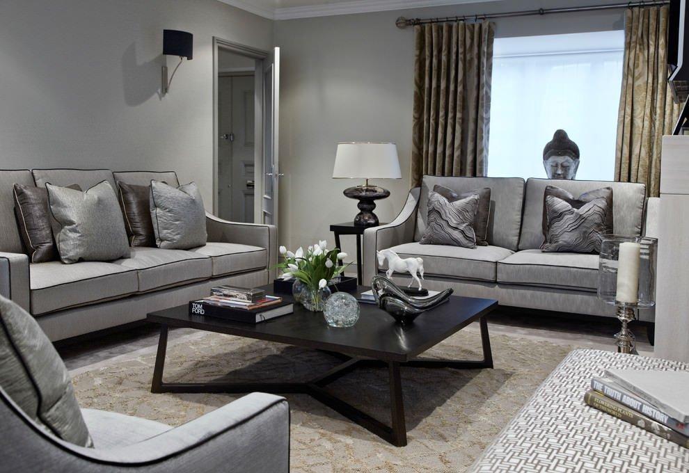 Gray Contemporary Living Room 24 Gray sofa Living Room Furniture Designs Ideas Plans