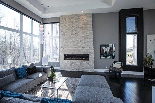 Gray Contemporary Living Room Contemporary Living Room In Grey tones Contemporary
