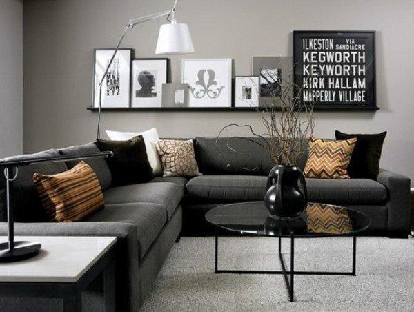 Gray Contemporary Living Room Modern Living Room Ideas Interior Design Tips