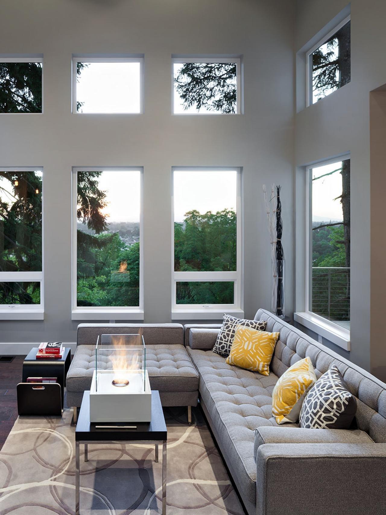 Gray Contemporary Living Room S
