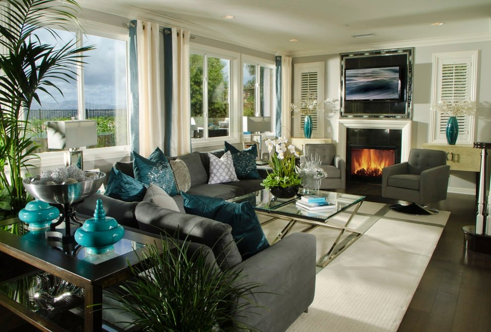 Gray Living Room Decor Ideas 22 Teal Living Room Designs Decorating Ideas