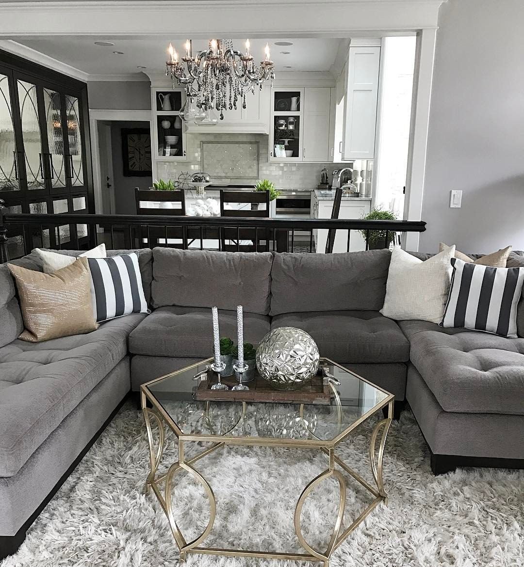 Gray Living Room Decor Ideas Change Up the Gray Couch with and Chic Black and White