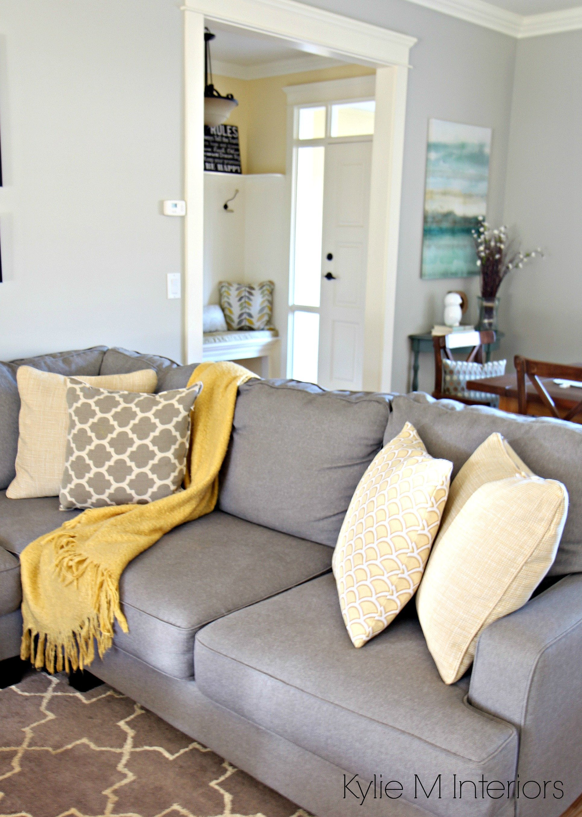 Gray Living Room Decor Ideas How to Make A Gray Paint Colour Feel Warm Shown In Living