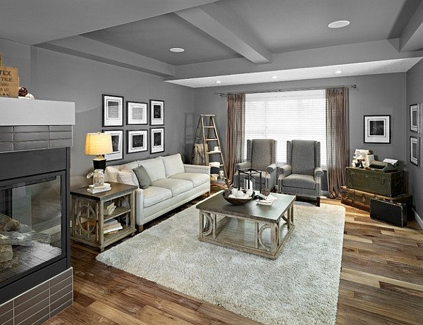 Gray Living Room Decorating Ideas Stepping It Up In Style 50 Ladder Shelves and Display Ideas