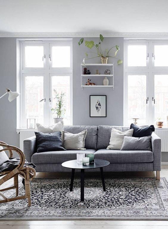 Gray sofa Living Room Decor soft Grey Home Via Cocolapinedesign