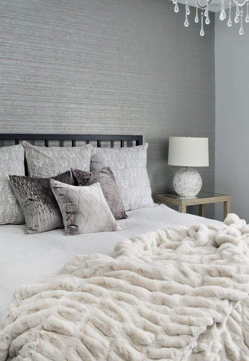 Grey Accent Wall Bedroom Bedroom Interior Design264ideas