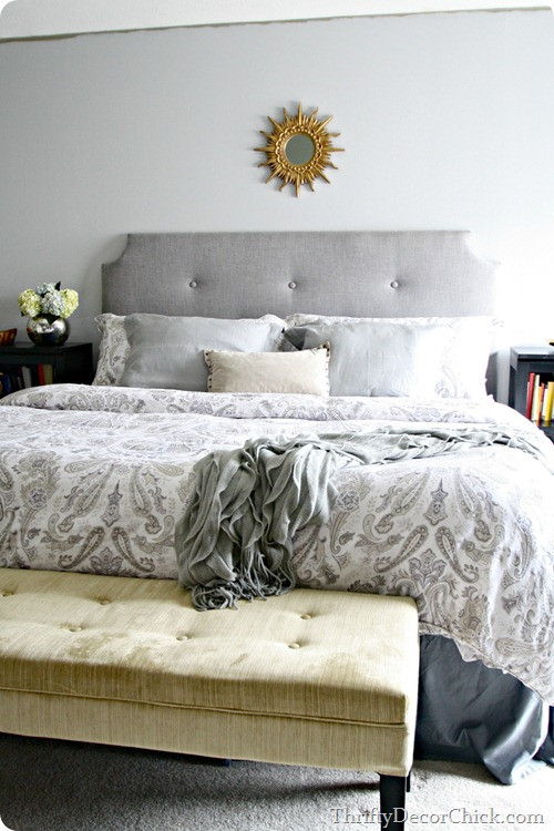 Grey Accent Wall Bedroom Dark Gray Accent Wall From Thrifty Decor Chick