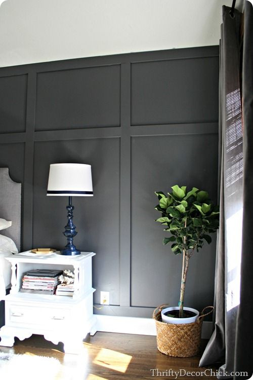 Grey Accent Wall Bedroom Dark Gray Accent Wall In 2020