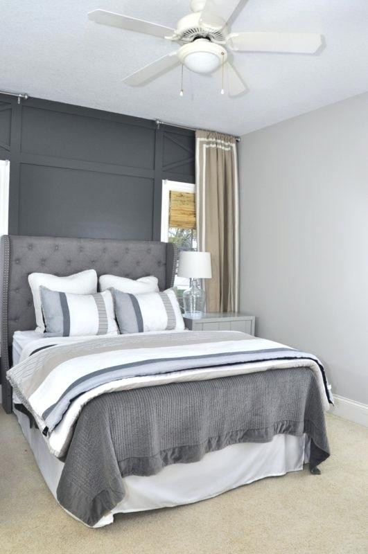 Grey Accent Wall Bedroom Dark Grey Accent Wall – Joellecannfo