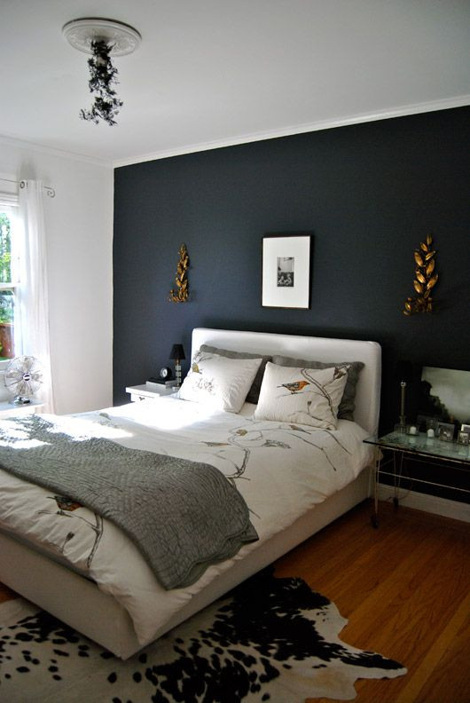 Grey Accent Wall Bedroom Gravel Gray