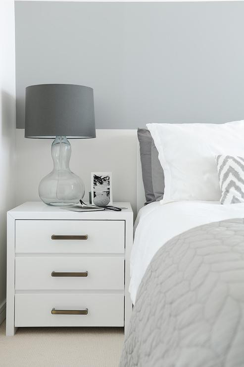 Grey Accent Wall Bedroom Gray Striped Bedroom Accent Wall Contemporary Bedroom