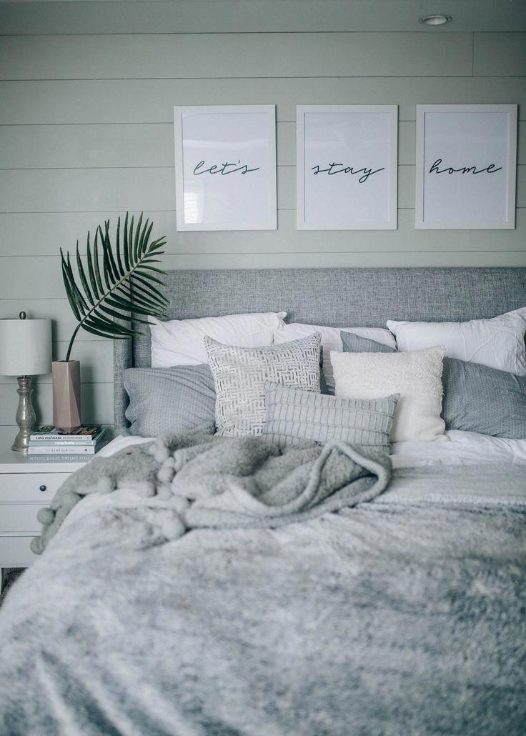 Grey and White Bedroom Decor Grey White Cozy Coastal Shiplap Bedroom Decor